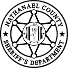 Nathanael County Sheriffs badge black and white