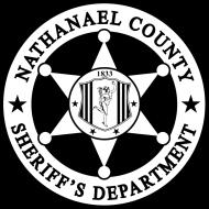 Nathanael County Sheriffs badge black and white